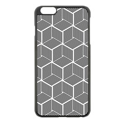 Cube Pattern Cube Seamless Repeat Apple Iphone 6 Plus/6s Plus Black Enamel Case by Nexatart