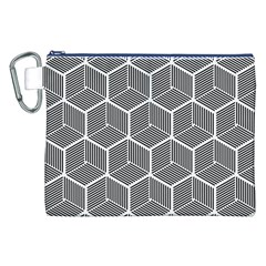 Cube Pattern Cube Seamless Repeat Canvas Cosmetic Bag (xxl) by Nexatart
