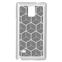 Cube Pattern Cube Seamless Repeat Samsung Galaxy Note 4 Case (white) by Nexatart