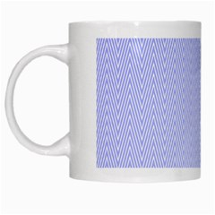 Zigzag Chevron Thin Pattern White Mugs