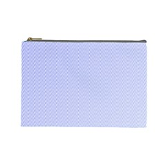 Zigzag Chevron Thin Pattern Cosmetic Bag (large)