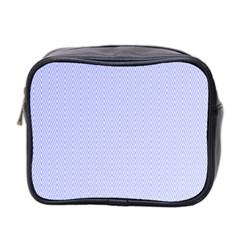 Zigzag Chevron Thin Pattern Mini Toiletries Bag 2 Side