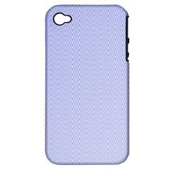 Zigzag Chevron Thin Pattern Apple Iphone 4/4s Hardshell Case (pc+silicone)