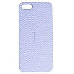 Zigzag Chevron Thin Pattern Apple Iphone 5 Hardshell Case With Stand