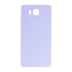 Zigzag Chevron Thin Pattern Samsung Galaxy Alpha Hardshell Back Case by Nexatart