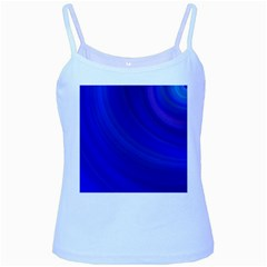 Blue Background Abstract Blue Baby Blue Spaghetti Tank