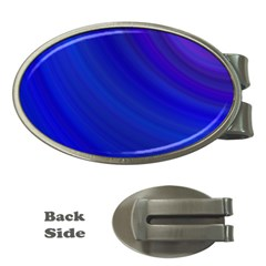 Blue Background Abstract Blue Money Clips (oval)