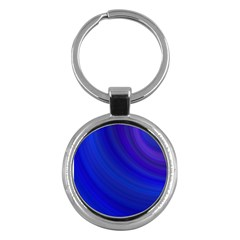 Blue Background Abstract Blue Key Chains (round)