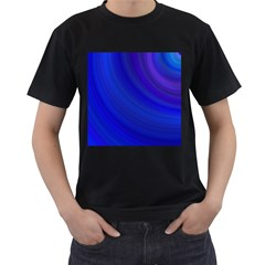 Blue Background Abstract Blue Men s T Shirt (black) (two Sided)