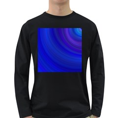 Blue Background Abstract Blue Long Sleeve Dark T Shirts