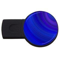 Blue Background Abstract Blue Usb Flash Drive Round (4 Gb)