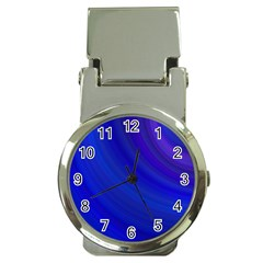 Blue Background Abstract Blue Money Clip Watches by Nexatart
