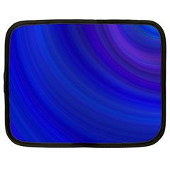 Blue Background Abstract Blue Netbook Case (large)