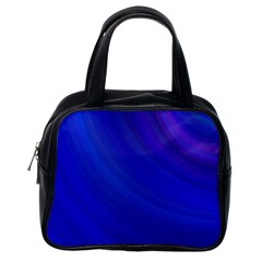 Blue Background Abstract Blue Classic Handbags (one Side)