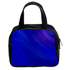 Blue Background Abstract Blue Classic Handbags (2 Sides) by Nexatart
