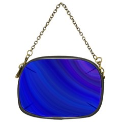 Blue Background Abstract Blue Chain Purses (one Side)