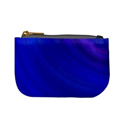 Blue Background Abstract Blue Mini Coin Purses