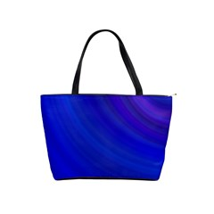 Blue Background Abstract Blue Shoulder Handbags by Nexatart