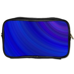 Blue Background Abstract Blue Toiletries Bags 2 Side