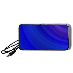 Blue Background Abstract Blue Portable Speaker (black)