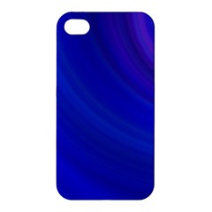 Blue Background Abstract Blue Apple Iphone 4/4s Hardshell Case