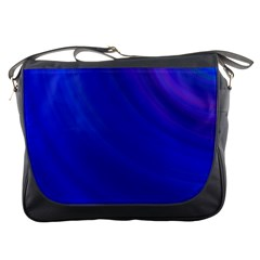 Blue Background Abstract Blue Messenger Bags