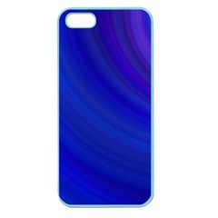 Blue Background Abstract Blue Apple Seamless Iphone 5 Case (color)