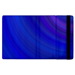 Blue Background Abstract Blue Apple Ipad 3/4 Flip Case by Nexatart