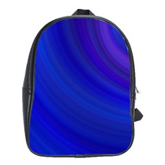 Blue Background Abstract Blue School Bag (xl)