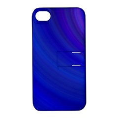 Blue Background Abstract Blue Apple Iphone 4/4s Hardshell Case With Stand by Nexatart