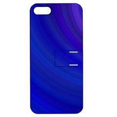 Blue Background Abstract Blue Apple Iphone 5 Hardshell Case With Stand