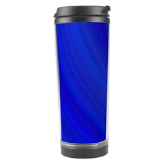 Blue Background Abstract Blue Travel Tumbler