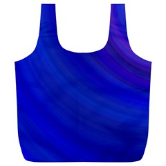 Blue Background Abstract Blue Full Print Recycle Bags (l)