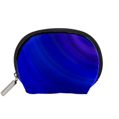 Blue Background Abstract Blue Accessory Pouches (small)  by Nexatart