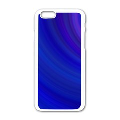 Blue Background Abstract Blue Apple Iphone 6/6s White Enamel Case by Nexatart