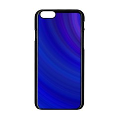 Blue Background Abstract Blue Apple Iphone 6/6s Black Enamel Case