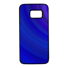 Blue Background Abstract Blue Samsung Galaxy S7 Black Seamless Case