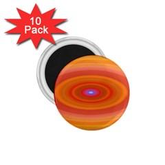 Ellipse Background Orange Oval 1 75  Magnets (10 Pack)