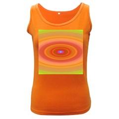 Ellipse Background Orange Oval Women s Dark Tank Top