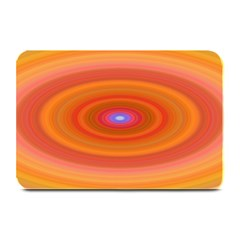 Ellipse Background Orange Oval Plate Mats by Nexatart