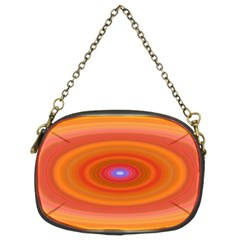 Ellipse Background Orange Oval Chain Purses (two Sides)  by Nexatart