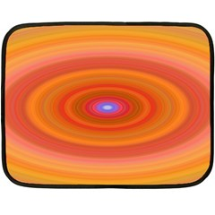 Ellipse Background Orange Oval Fleece Blanket (mini)