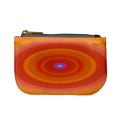 Ellipse Background Orange Oval Mini Coin Purses