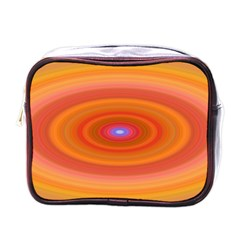 Ellipse Background Orange Oval Mini Toiletries Bags by Nexatart