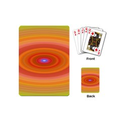 Ellipse Background Orange Oval Playing Cards (mini)
