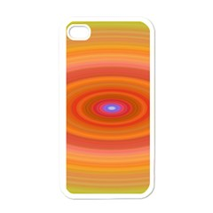 Ellipse Background Orange Oval Apple Iphone 4 Case (white)