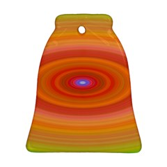 Ellipse Background Orange Oval Ornament (bell)