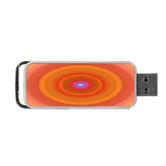 Ellipse Background Orange Oval Portable Usb Flash (two Sides) by Nexatart
