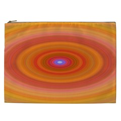 Ellipse Background Orange Oval Cosmetic Bag (xxl)  by Nexatart
