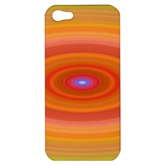Ellipse Background Orange Oval Apple Iphone 5 Hardshell Case
